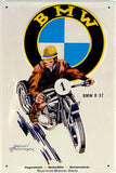 BMW R37 Motorcycle - Vintage Style Metal Advertising Sign