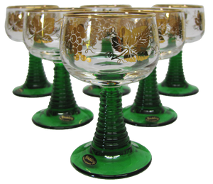 Wein Römer - German Wine Glass Set (6) - Gold Trim .1L