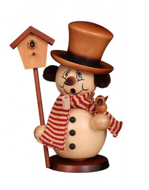 Christian Ulbricht Smoker - Snowman with Birdhouse - Natural