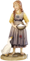 Shepherdess with goose