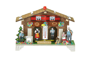 Weather house with Heidi, grandfather, Peter with goat and the dog Josef after the children's book Heidi by Johanna Spyri