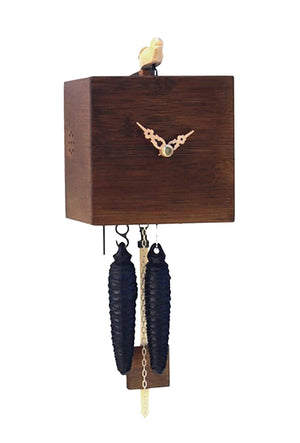 Cuckoo Clock - 1-Day Cube Modern in Natural Dark - Romba