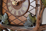 Leaf with Part of the Dial, and Made in Germany on a Schneider Traditional Black Forest Cuckoo Clock
