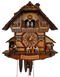Schneider Chalet Black Forest Cuckoo Clock with Bavarian man enjoying time in the Bavarian Brauhaus