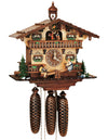 Bavarian Children sitting on a Teeter Totter next to two Ducks on a Schneider Black Forest Cuckoo Clock