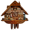 Schneider Cuckoo Clock with Men drinking Beer while Waitress brings Beer to a group of Men playing Cards
