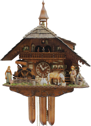 Cuckoo Clock - 8-Day Farm with Horse & Chickens - Rombach & Haas