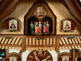 Black forest Dancers on the Top of a Half-Timbered Chalet Schneider Black Forest Clock
