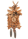Stag, two Rifles, Rabbit, Pheasant, and a Hunting bag on a Schneider Hunting Black forest Cuckoo Clock