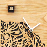 Cuckoo Clock - 8-Day Modern Cherry Clock with White Design - Romba