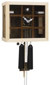 Cuckoo Clock - 8-Day Modern with Glass Face & Green Grid - Romba