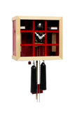 Cuckoo Clock - 8-Day Modern with Glass Face & Red Grid - Romba