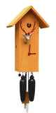 Cuckoo Clock - 8-Day Tall Modern Orange Clock with Stag Head - Romba