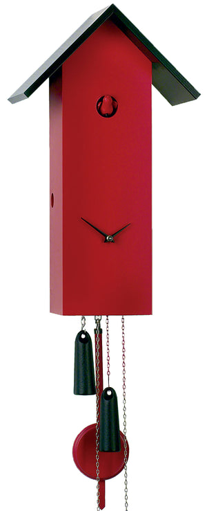Cuckoo Clock - 8-Day Tall Modern in Red - Romba