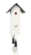 Cuckoo Clock - 8-Day Tall Modern in White - Romba