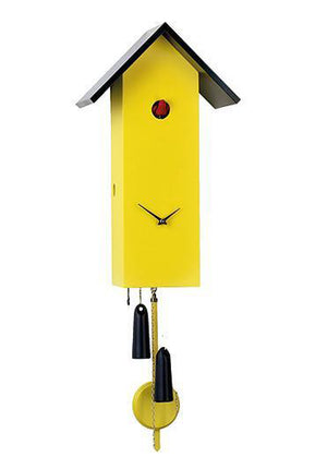 Cuckoo Clock - 8-Day Tall Modern in Yellow - Romba