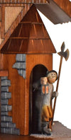 Night Watchman emerging from Guardhouse with a Lantern and Halberd on a Schneider Cuckoo Clock