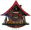 Peter with Goats and Heidi with Grandfather and Joseph the Dog on an Engstler Clack Forest Cuckoo Clock