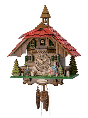 Cuckoo Clock - 1-Day Chalet with Heidi Scene - Engstler