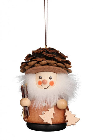 Christian Ulbricht Wooden Wobble Figure - Fir Cone Man Natural (Ornament )