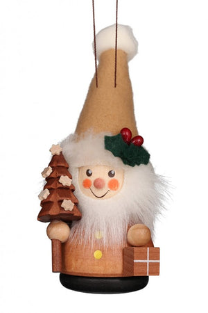 Ulbricht Wooden Wobble Figure - Santa Claus Natural (Ornament )