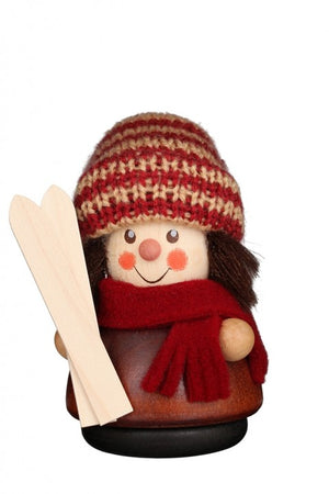 Christian Ulbricht Wooden Wobble Figure - Skier - Natural