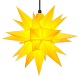 Yellow Herrnhuter Moravian Star Set A4 - Plastic 16""