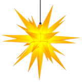 Yellow Herrnhuter Moravian Star Set A7 - Plastic 28""