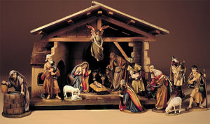 ANRI Bernardi  Nativity set with Free Stable - Expanded set