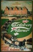 Carlsberg Beer - Vintage Style Metal Advertising Sign