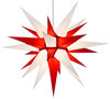 Herrnhuter Moravian Star - White / Red - Paper 28""