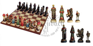 Anri Chess Montsalvat Set Colored With Board
