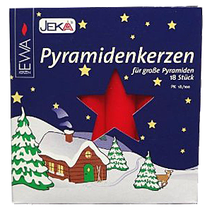 Red Large Candles for German Christmas Pyramid