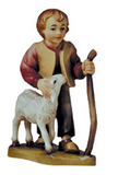 Shepherd boy with stick and sheep NEW 2007