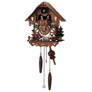 Cuckoo Clock - Quartz with St. Bernard and Beer Drinker