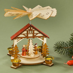 Christmas Pyramid - Nativity Scene at Stable