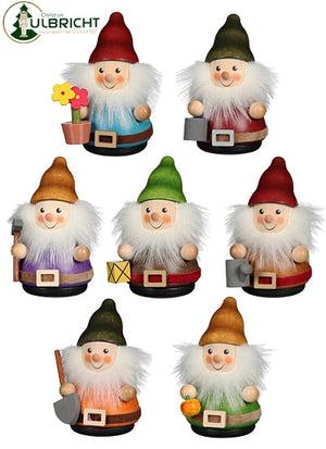 Christian Ulbricht Wooden Wobble Figure Gnomes - Set of 7