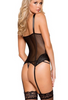 Roma Bustier With Adjustable Garters & G-string