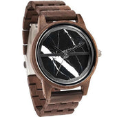 Gold Hand Marble Full Zebra Wood Watches
