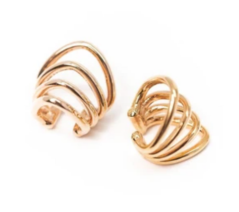 Gold cuff earrings variant