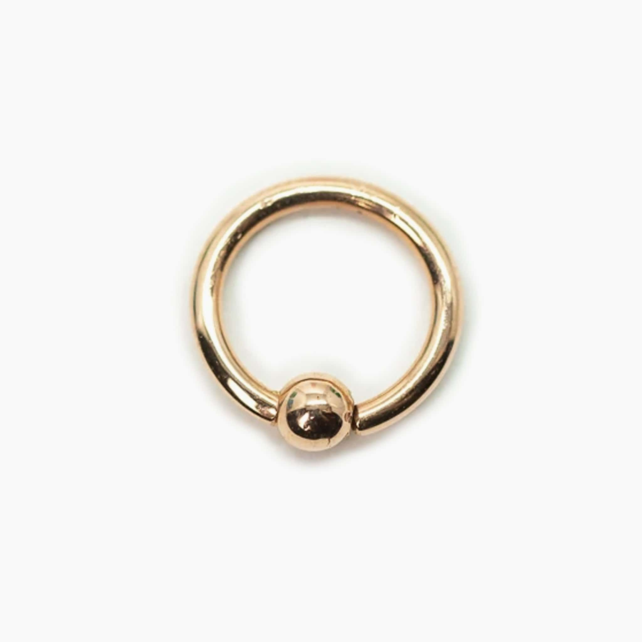 14k Fixed Bead Ring