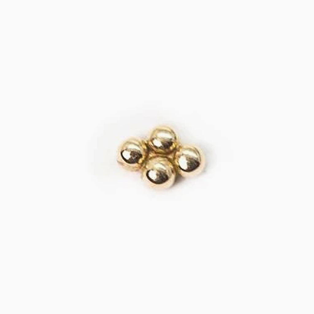 Threadless 14k Quad-Bead Cluster Tops