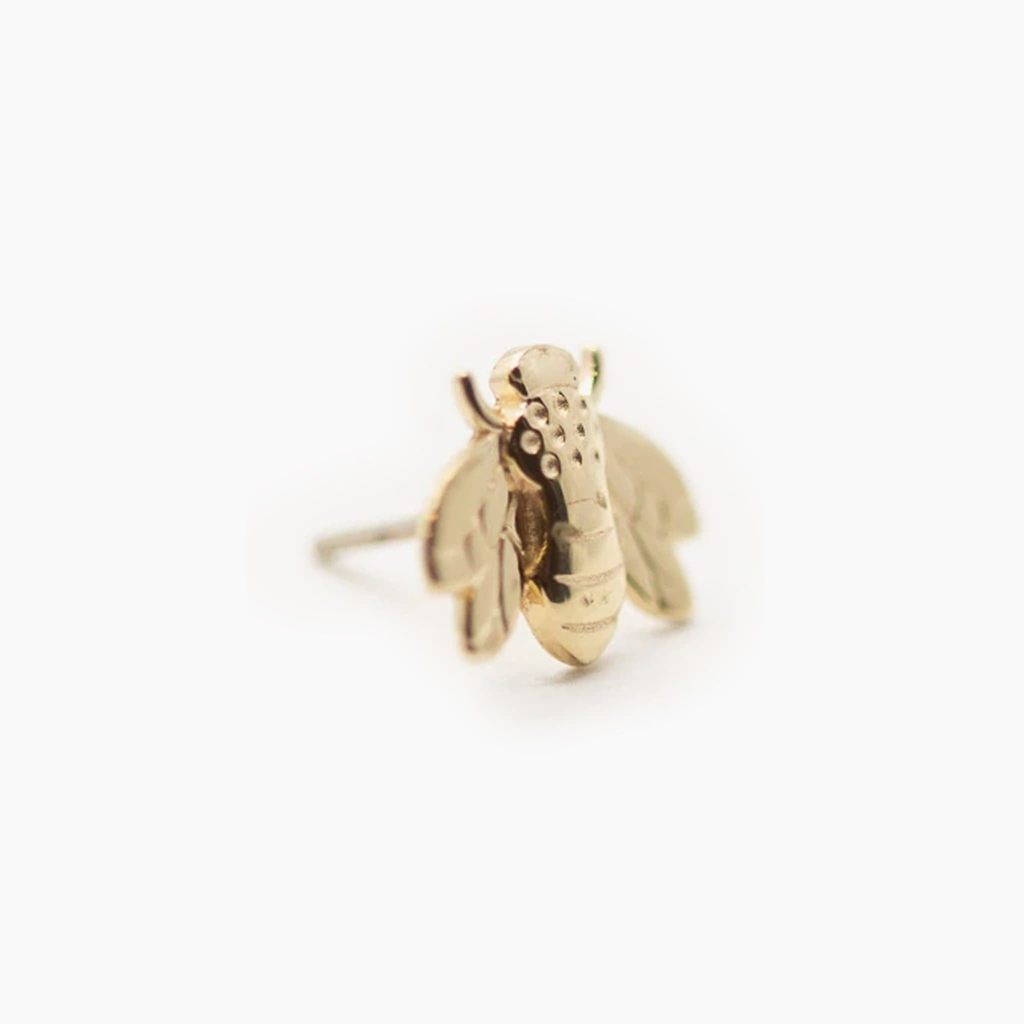 Threadless 14k Gold Bee Tops