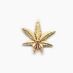 Threadless 14k Gold Marijuana Leaf Ends