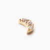 Threadless 14k Gold Pave CZ Crescent Moon Top