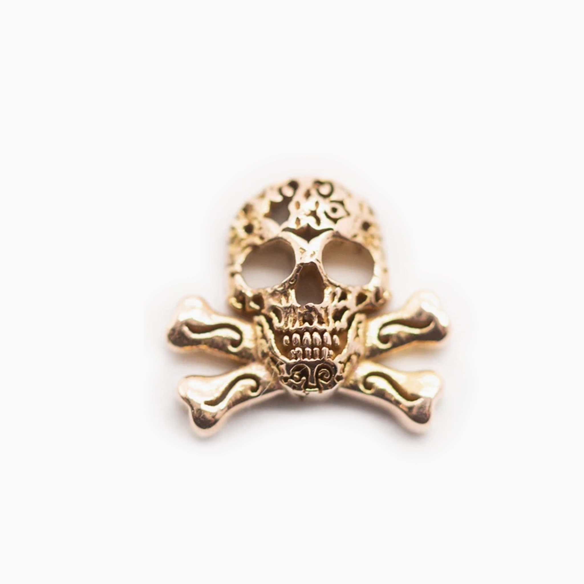 Threadless 14k Gold Skull & Crossbones Tops