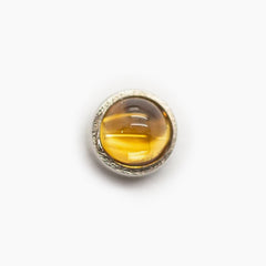Threadless 14k Gold Genuine Stone Cabochon Tops