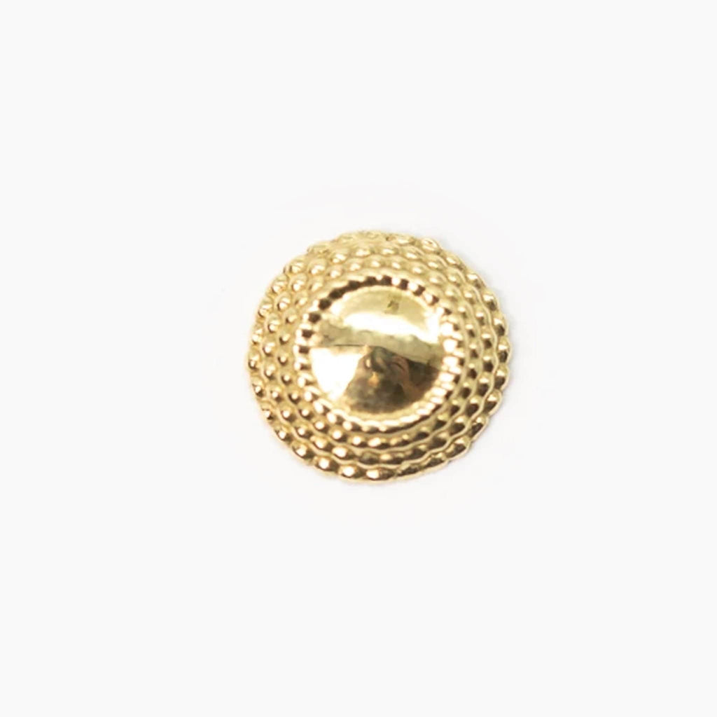 Threaded 18k Yellow Gold Large Hera End