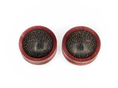 OMW | Convex Wood Inlay Plug Pair - Avanti Body Piercing & Fine Jewelry