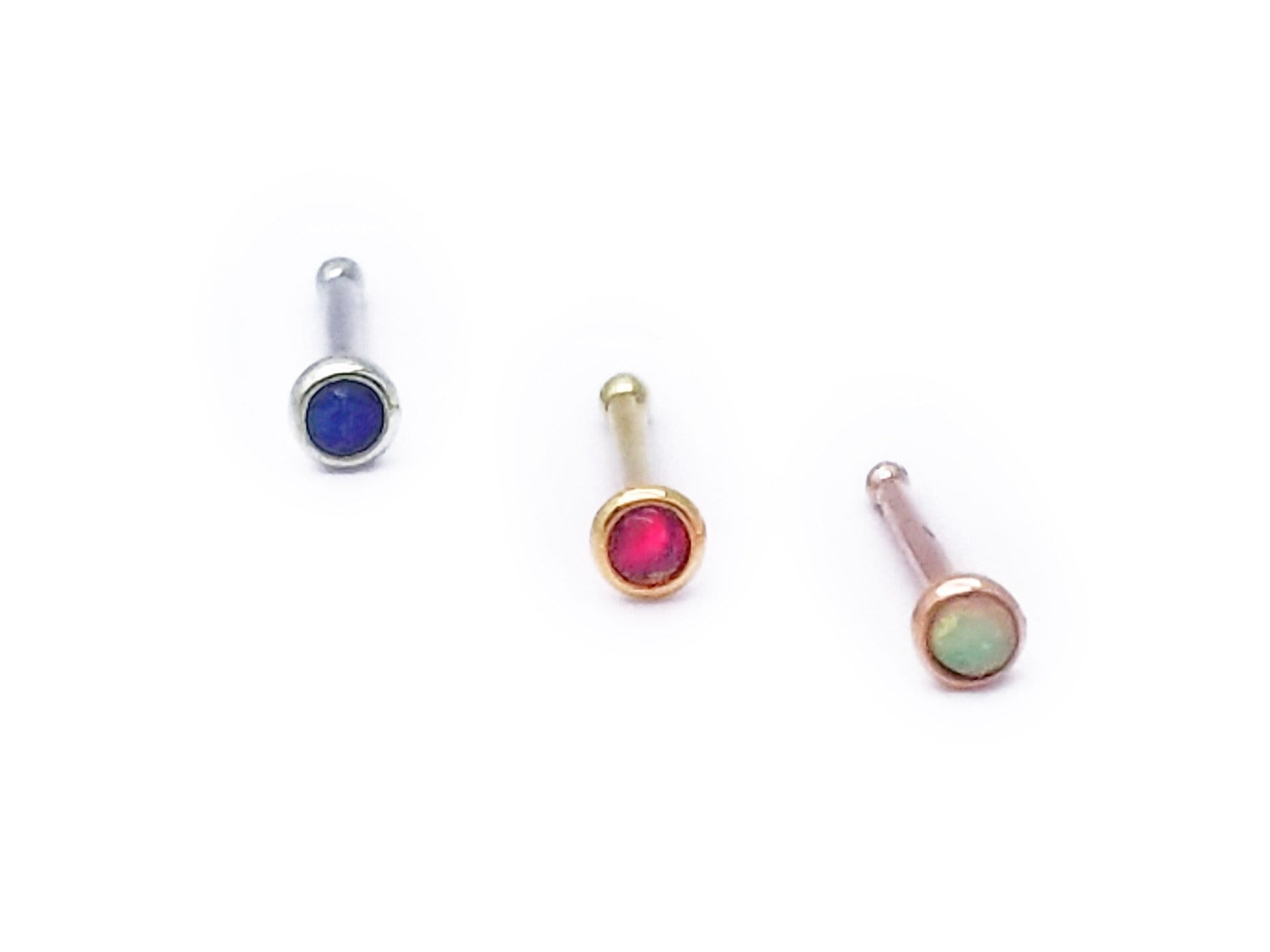 BVLA | 20g Opal Nose Bone - Avanti Body Piercing & Fine Jewelry